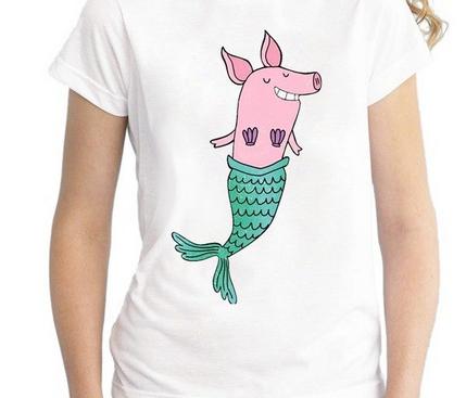 Смешная футболка свинка