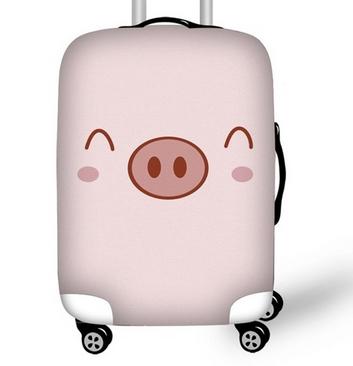чехол для чемодана в виде свинки