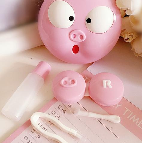 Контейнер для линз свинья